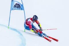 JITLOFF Tim in Audi Fis Alpine Skiing World-Kop Men's Reuzesl royalty-vrije stock afbeeldingen