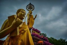 Jittapawan buddistisk skola - Thailand Royaltyfri Foto