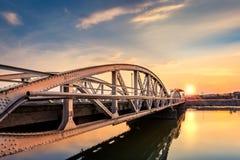 Jiu Bridge at sunset Royalty Free Stock Images