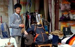 Jiu Chi Town, Ch: Tailor Shop & Teenager Stock Image