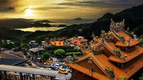 Jiu Fen, Taiwan. The beautiful sunset in JiuFen, Taiwan stock photography