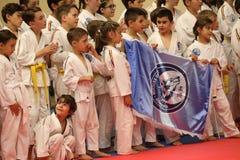 Jiu Jitsu小组摄影的战斗机联盟 免版税库存照片