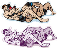 Jiu jitsu Arm bar Stock Photography