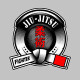 JIU JITSU BADGE. This badge are suitable for your apparel or any Stock Photos