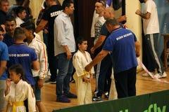 Jiu Jitsu drużyna z Hanshi przy Rumuńskim mistrzostwem, juniory, Maj 2018 Obrazy Stock