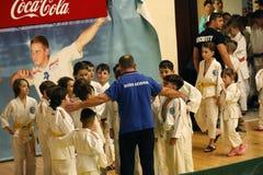 Jiu Jitsu drużyna z Hanshi przy Rumuńskim mistrzostwem, juniory, Maj 2018 Obrazy Royalty Free