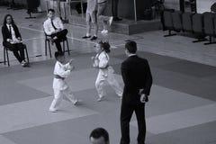 Jiu Jitsu fighters with Hanshi at Romanian Championship, Juniors, May 2018 stock images