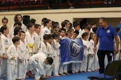Jiu Jitsu Hanshi i jego zespala się, juniora mistrzostwo, Maj 2018 Zdjęcie Royalty Free