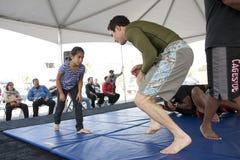 Jiu Jitsu Kid stock photo