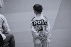 Jiu Jitsu myśliwski czekanie, przygotowywający dla trenować Obrazy Stock