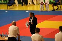 Jiu Jitsu referees, Juniors Championship, May 2018. Jiu Jitsu referees Royalty Free Stock Photos