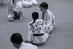 Jiu Jitsu junior fighting at Romanian Championship, Juniors, May 2018 stock photography