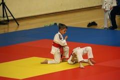 Jiu Jitsu wojownicy przy Rumuńskim mistrzostwem, juniory, Maj 2018 Obrazy Stock