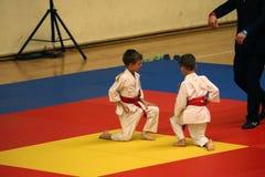 Jiu Jitsu wojownicy przy Rumuńskim mistrzostwem, juniory, Maj 2018 Zdjęcia Royalty Free