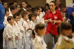 Jiu Jitsu wojownicy przygotowywający dla trenować Obrazy Stock