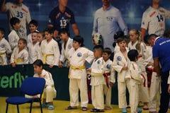 Jiu Jitsu wojownicy z Hanshi przy Rumuńskim mistrzostwem, juniory, Maj 2018 Zdjęcie Royalty Free