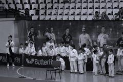 Jiu Jitsu wojownicy z Hanshi przy Rumuńskim mistrzostwem, juniory, Maj 2018 Fotografia Stock