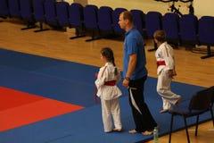 Jiu Jitsu wojownicy z Hanshi przy Rumuńskim mistrzostwem, juniory, Maj 2018 Zdjęcie Stock