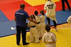 Jiu Jitsu wojownicy z Hanshi przy Rumuńskim mistrzostwem, juniory, Maj 2018 Obrazy Stock