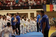 Jiu Jitsu wojownicy zespalają się gotowego dla trenować Obrazy Stock