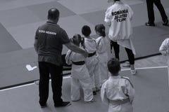 Jiu Jitsu wojownicy zespalają się gotowego dla trenować Fotografia Stock