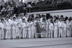 Jiu Jitsu wojowników * dla grupowej fotografii Zdjęcia Royalty Free