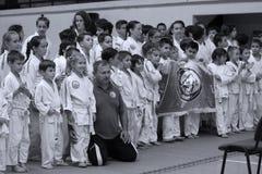 Jiu Jitsu wojowników * dla grupowej fotografii Zdjęcie Stock