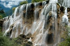 Jiu Zhai Gou, China: Pearl Shoal Waterfall Stock Images