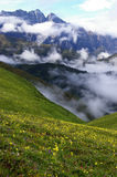 jiudingshan βουνό λιβαδιών Στοκ Εικόνες