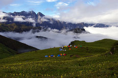Jiudingshan Mountain meadow Stock Photo