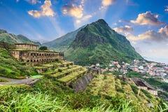 Jiufen台湾废墟 库存照片