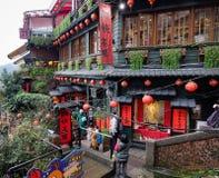 Jiufen村庄在台北,台湾 库存图片