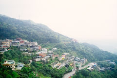 Jiufen老街道 免版税图库摄影