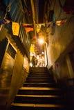 Jiufen街道视域台北台湾 库存图片