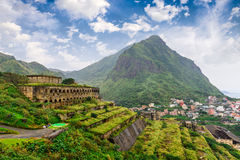 Jiufen Abandoned Gold Mine. Jiufen, Taiwan historic 13 levels ruins royalty free stock photo