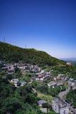 Jiufen/Chiufen在瑞芳区,新北市,台湾 免版税库存照片