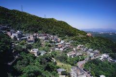 Jiufen/Chiufen w Ruifang okręgu, Nowy Taipei miasto, Tajwan Zdjęcie Stock
