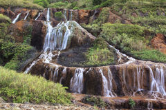 Jiufen Golden waterfall, Taiwan Stock Image