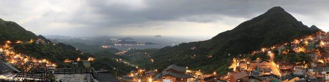 Jiufen i bergen av Taiwan arkivbild