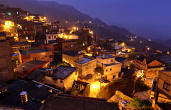 Jiufen at night Royalty Free Stock Images