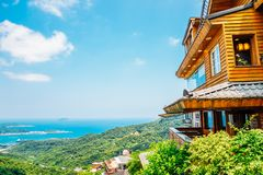 Jiufen old town in Taiwan. Jiufen old town and nature view in Taiwan royalty free stock image