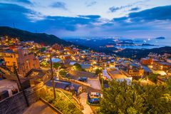 JiuFen | Old Town. View of the old houses in the area of jiufen royalty free stock image