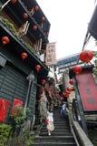 Jiufen street sight  Taipei  Taiwan . Royalty Free Stock Images