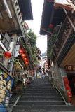Jiufen street sight  Taipei  Taiwan . Royalty Free Stock Photos