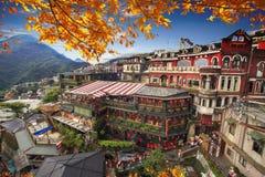 Jiufen Taipei, Taiwan Betydelsen av den kinesiska texten i pet royaltyfria bilder