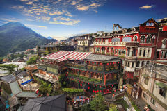 Jiufen, Taipei, Taiwan. The meaning of the Chinese text in the p. The Jiufen, Taipei, Taiwan. The meaning of the Chinese text in the picture is the red globe of stock photos