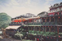Jiufen, Taiwan - April 23,2018 : The famous building at Jiufen Old Street, Taiwan stock images