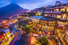 Jiufen, Taiwan. Hillside teahouses in Jiufen, Taiwan Royalty Free Stock Photography