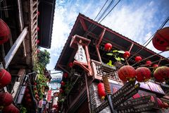 Jiufen. Taiwan - June 6, 2018:  Old street is a famous scenic in Ruifang District, New Taipei City, Taiwan royalty free stock photos