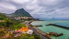 Jiufen Taiwan kust- Tid schackningsperiod